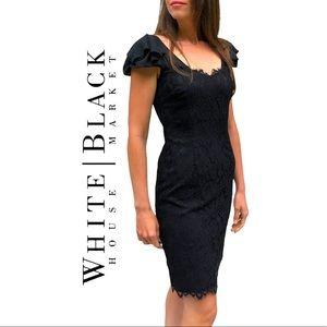 White House Black Market- Lace Sheath Dress